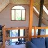 The loft overlooking the living area